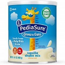PediaSure Grow & Gain Non-GMO Shake Mix Powder, Nutritional Shake For Kids, With Protein, DHA, Antioxidants, and Vitamins & Minerals, Vanilla, 14.1 oz, 3-Count