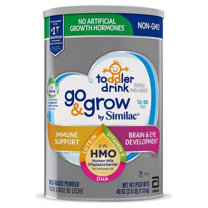 Similac Go & Grow Non-GMO with 2'-FL HMO Milk-Based Powder Toddler Drink (40 oz.)